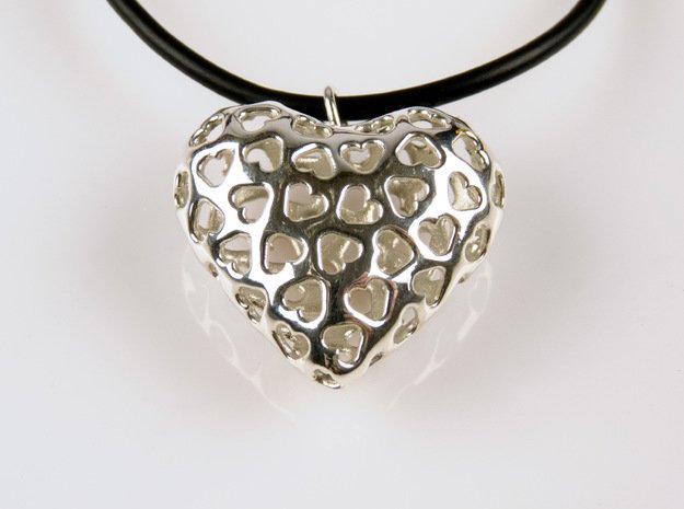 Small hearts, Big love (from $15) in Polished Silver: Medium
