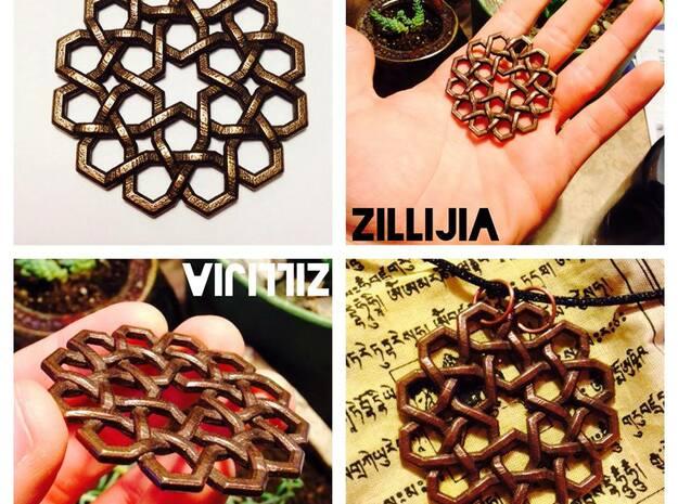 643 Pendant in Polished Bronze Steel