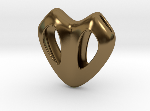 Cuore Hollow in Polished Bronze