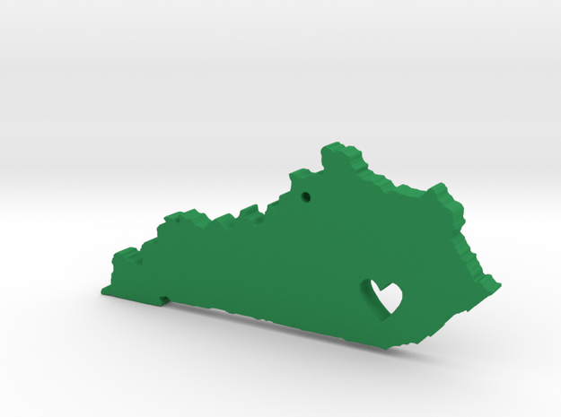 Kentucky Love Necklace in Green Processed Versatile Plastic
