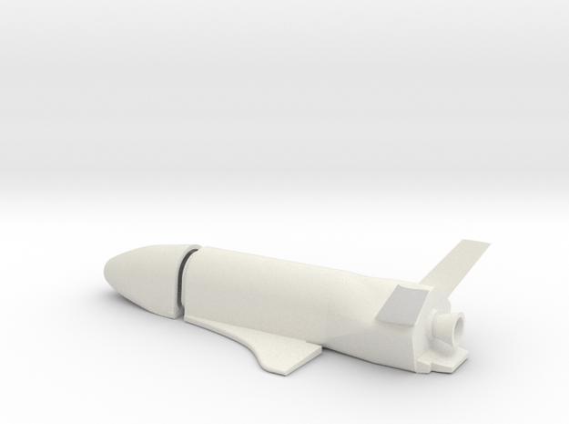 1/144 BOEING X-37C ORBITAL SPACE PLANE in White Natural Versatile Plastic
