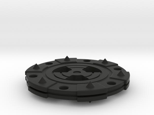 Demon Poker Chip in Black Natural Versatile Plastic