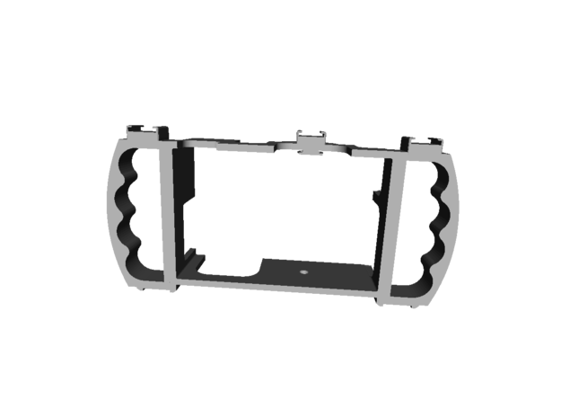 """3DGuy """"My Cage"""" With Handles in Black Natural Versatile Plastic"""