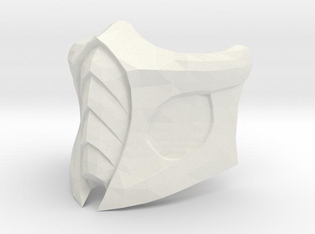 Mortal Kombat Mask in White Natural Versatile Plastic