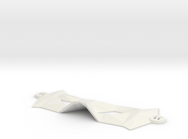 Bat Mask (Universal Fit) in White Natural Versatile Plastic