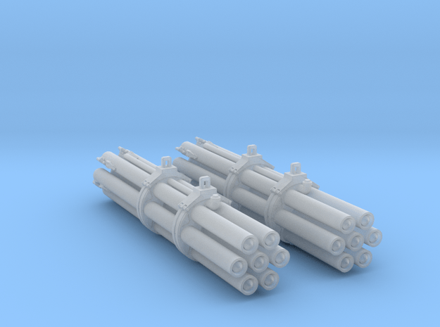 M158 Pair Rocket Pods 1/48 Scale (Loaded) in Smooth Fine Detail Plastic