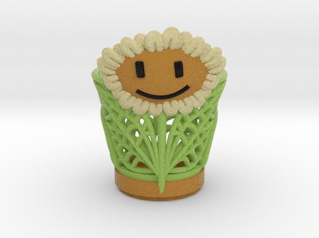 Sun Flower Vase case in Full Color Sandstone