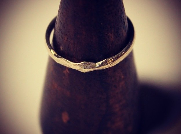 Shadow Ring US 8 5/8 UK Size R in Polished Silver