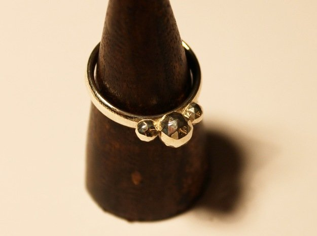 GeoJewel Ring US Size 6 UK Size M in Polished Silver