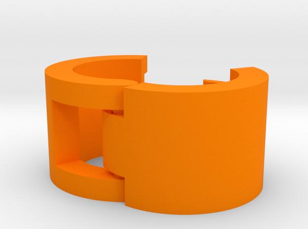 Cord Identification Clip in Orange Processed Versatile Plastic