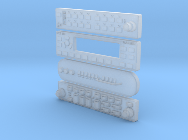 RADIOS 1:6 scale  in Smooth Fine Detail Plastic