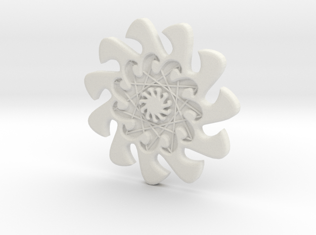 m o c e a n waves - 11 waves - 1.8cm in White Natural Versatile Plastic