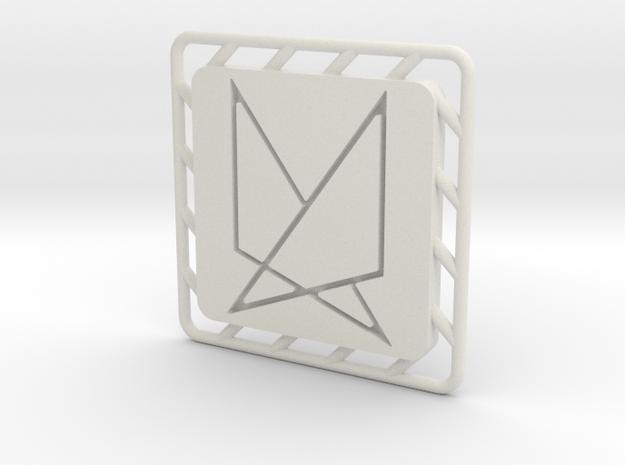 Ephela Pendant in White Natural Versatile Plastic