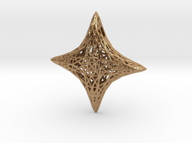 Pendant 10 in Polished Brass