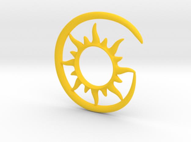 Earhook-Sun in Yellow Processed Versatile Plastic
