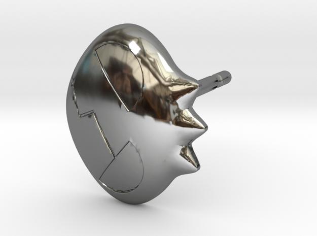 Yoko Skull Clip Stud Earring Remix (.333in) in Fine Detail Polished Silver