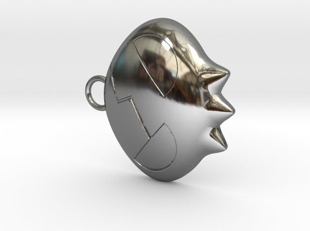 Yoko Skull Clip Dangle Earring Remix (1in) in Fine Detail Polished Silver
