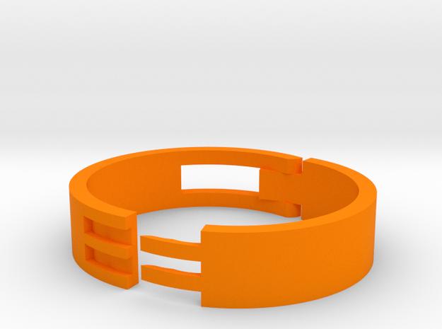 Large Cord Clip in Orange Processed Versatile Plastic