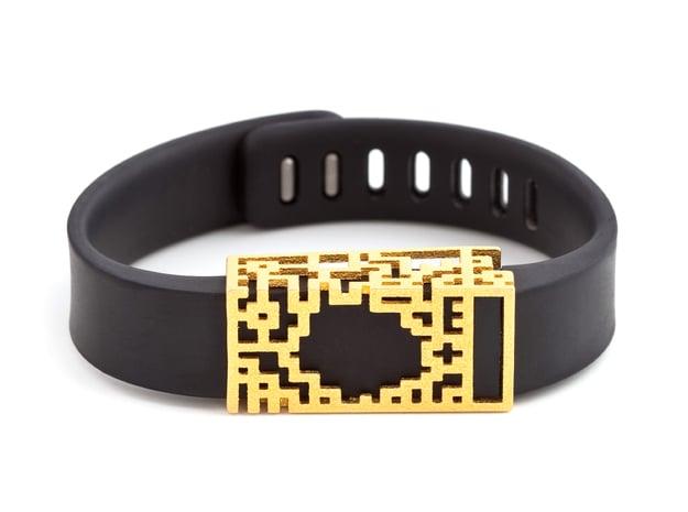Steel Lucas slide for Fitbit Flex in Polished Gold Steel