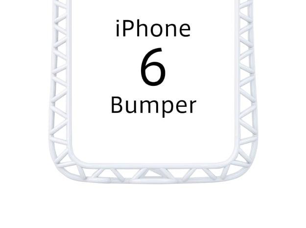 iPhone6/6s Bumper 「truss」 in White Processed Versatile Plastic