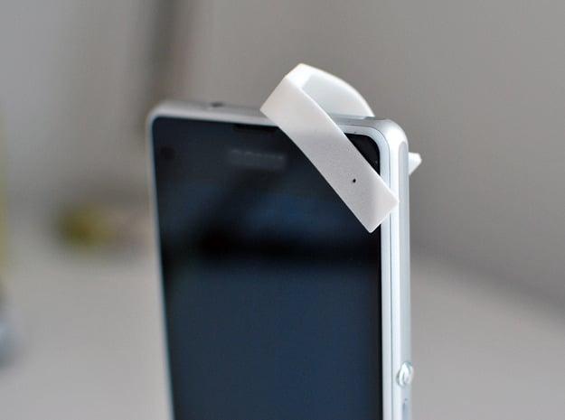 350X Smartphone/Tablet Microscope Attachment in White Natural Versatile Plastic