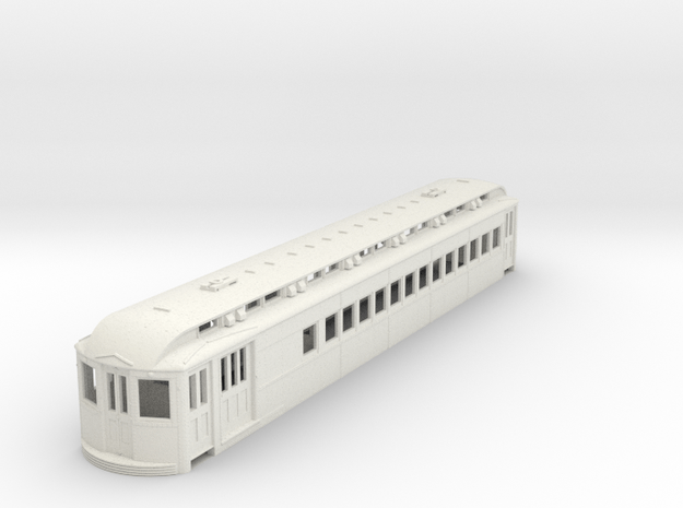 O Scale L&WV Short Steel Combine body in White Natural Versatile Plastic