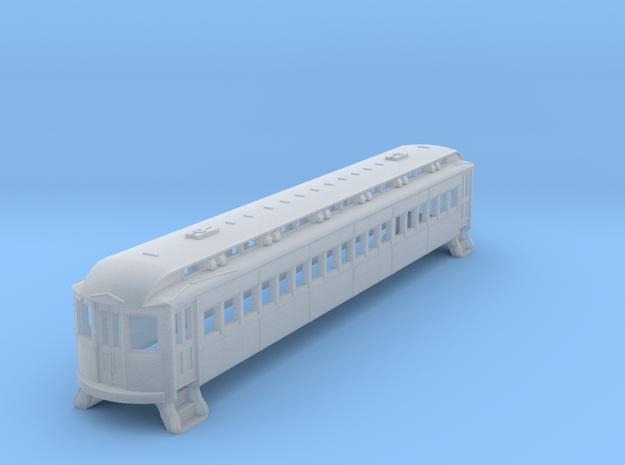 N Scale L&WV Short Steel Coach body shell in Smooth Fine Detail Plastic