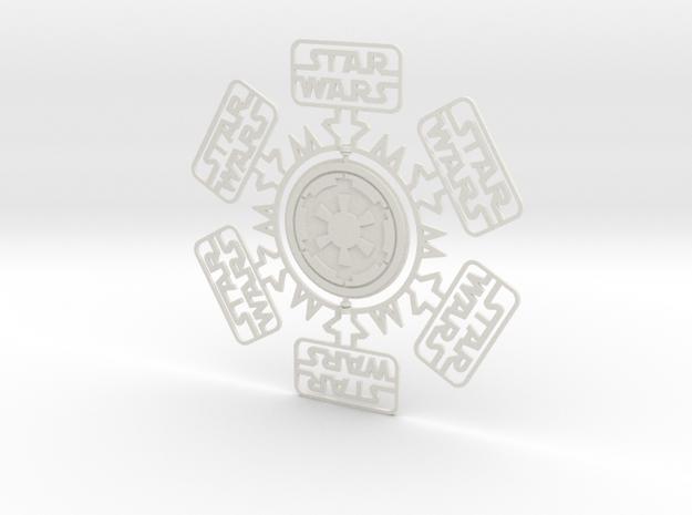 SW Snowflake in White Natural Versatile Plastic