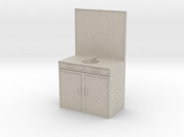 Mini Sink/Vanity for a Mini Bathroom in Natural Sandstone