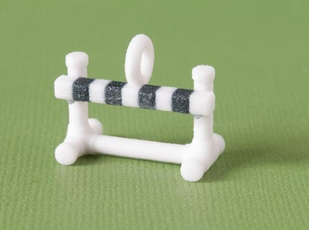 Obedience Bar Jump Pendant in Full Color Sandstone
