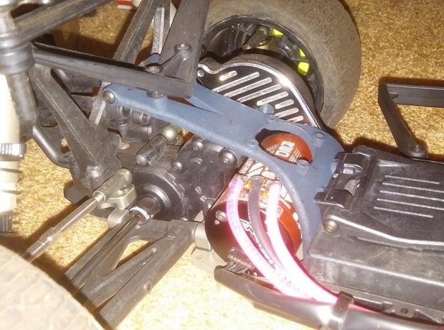 22SCT Mid Motor Fan Brace in Black Natural Versatile Plastic