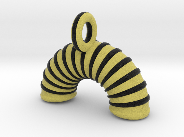 Agility Tunnel Pendant (Yellow Version) in Full Color Sandstone