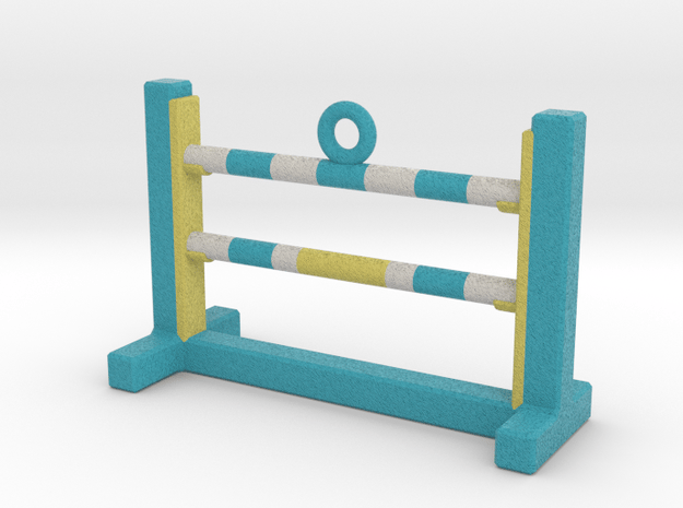 Agility Bar Jump Ornament (Blue Version) in Full Color Sandstone