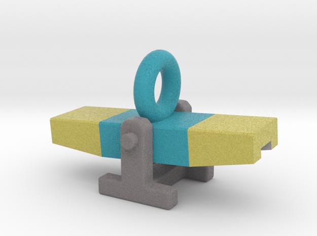 Agility Teeter Pendant (Blue Version) in Full Color Sandstone