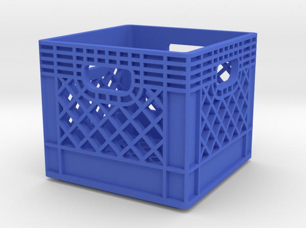 1/10 Scale Milk Crate in Blue Processed Versatile Plastic