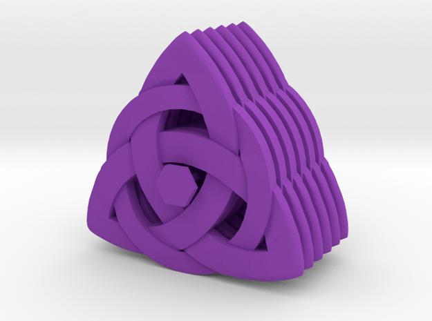Bass pick Celtic Knot (set of 6) in Purple Processed Versatile Plastic
