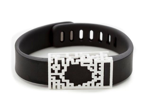 Plastic Lucas slide for Fitbit Flex in White Processed Versatile Plastic