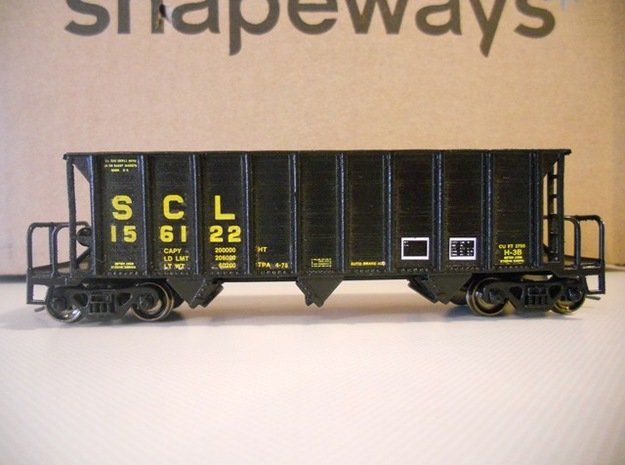 HO H-7-A/H-9 Hopper in Smooth Fine Detail Plastic: 1:87 - HO