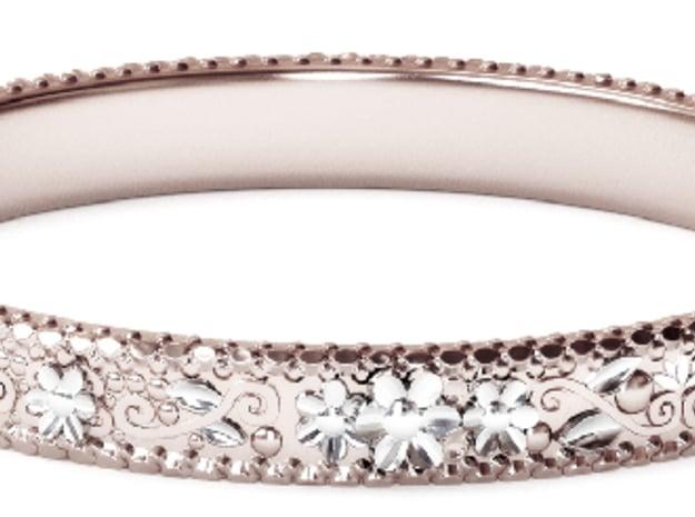 3D Printed Flower Ring in 14k Rose Gold