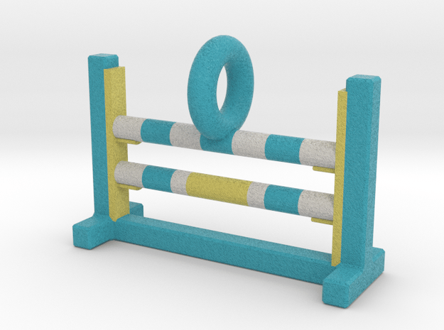Agility Bar Jump Pendant (Blue Version) in Full Color Sandstone