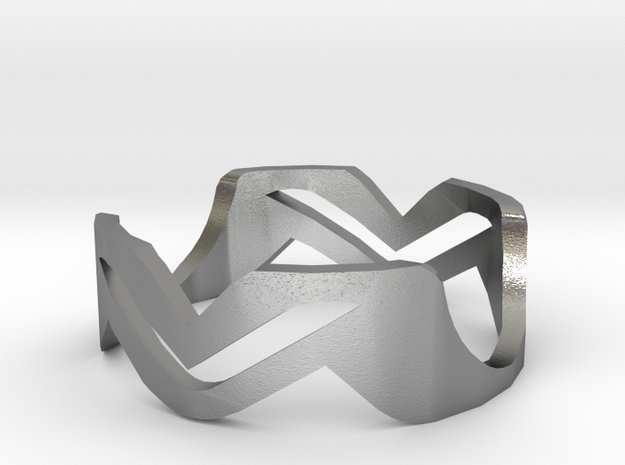 Ring MV in Natural Silver