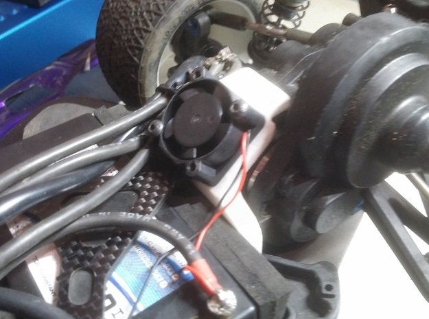 B5M, T5m, SC5m 25mm Fan Mount Brace in Black Natural Versatile Plastic