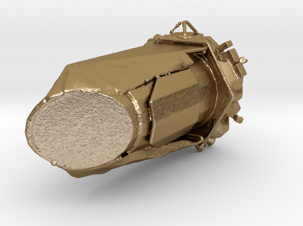 Kepler spacecraft  space observatory  in Polished Gold Steel