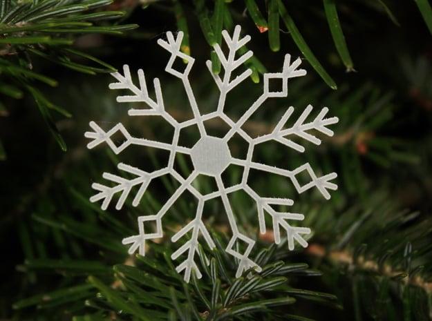 Frozen Snowflake in Smooth Fine Detail Plastic