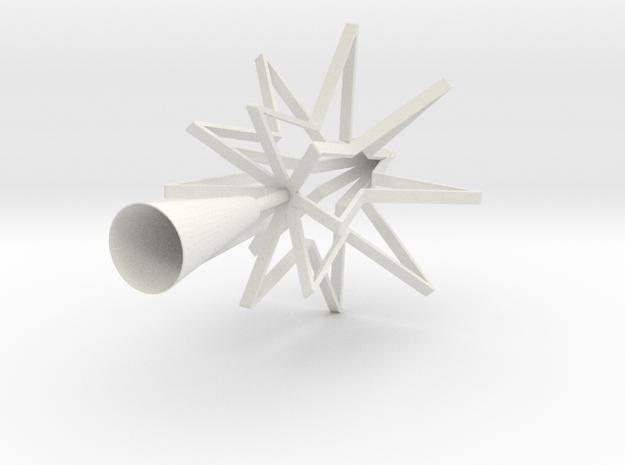 STAR TREE TOPPER in White Natural Versatile Plastic