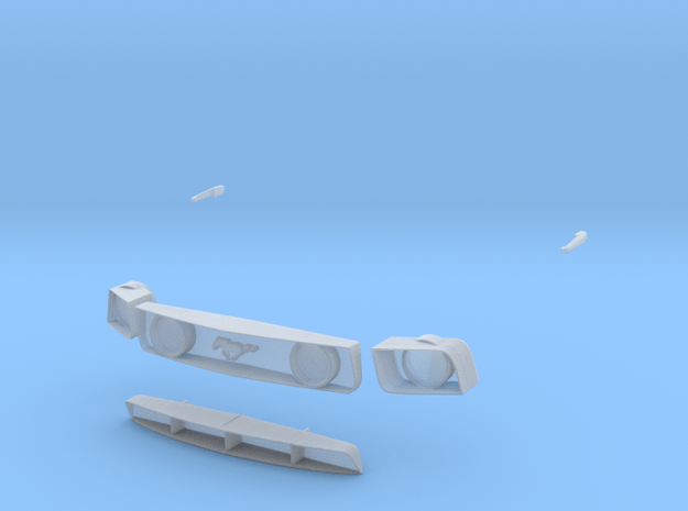 1/12 grill parts in Smooth Fine Detail Plastic