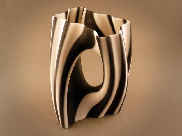Julia Vase #002 - Yin Yang in Full Color Sandstone