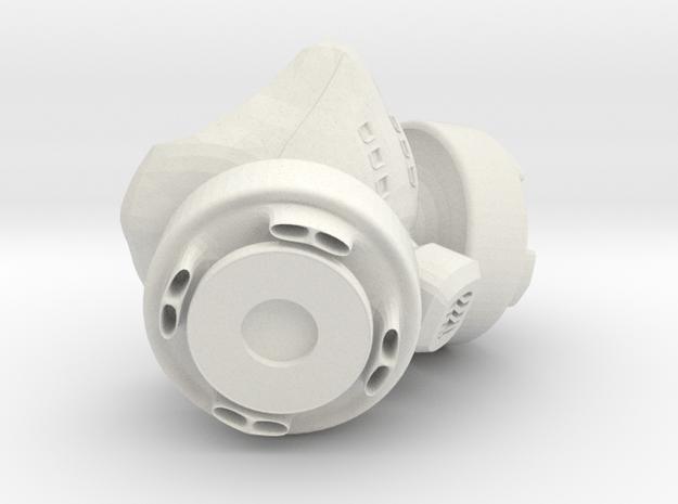 Kidrobot Dunny Gas Mask in White Natural Versatile Plastic