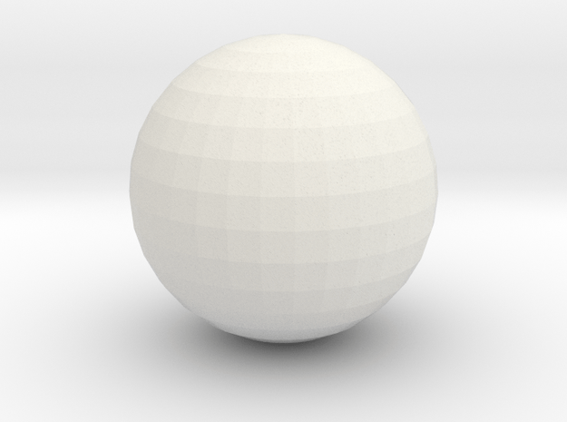 Ball - for bowling alley set in White Natural Versatile Plastic