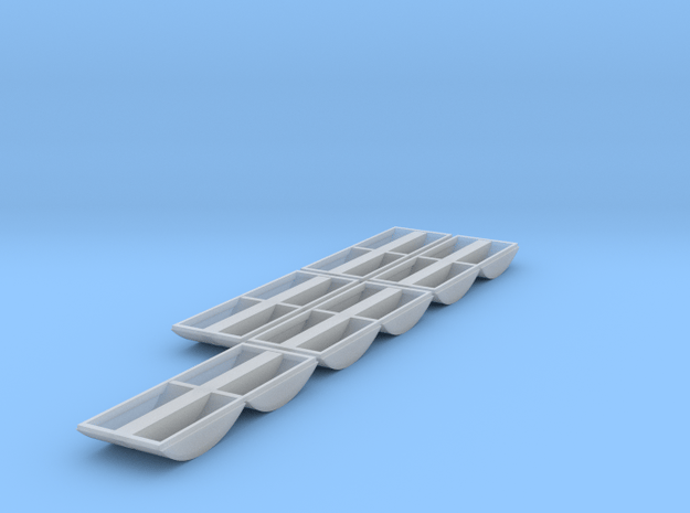 N Scale Aluminator Tubs 5 Pack in Smooth Fine Detail Plastic